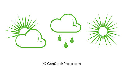 Green Nature Icons. Part 8 - Weather