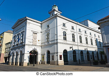 National theatre of Miskolc - Entrance of the National...
