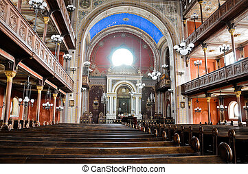 Inside the synagogue of Pecs - Inside view of the synagogue...