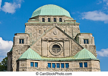Old synagogue of Essen - Front view of the old synagogue of...