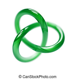 Green Torus Isolated on White