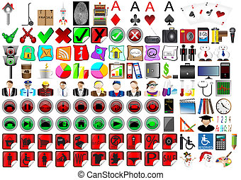 detailed icons. Vector Illustration