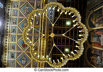 Chandelier in the chatedral of Pecs