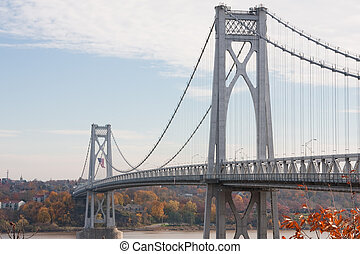 FDR Mid-Hudson Bridge, looking towards Poughkeepsie from...