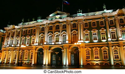 The Hermitage - Winter Palace in St Petersburg at night