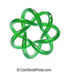 Green Torus - green torus isolated on white