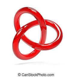 Red Torus Isolated on White