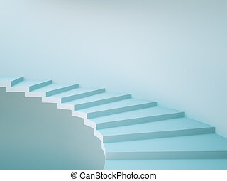 Staircase - Spiral Staircase Background Concept Illustration...
