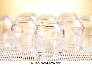 Cupping-glass - Cupping glass, photo with shallow depth of...