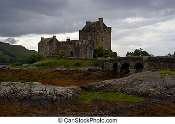 Romantic castle in Scotland - Scotland heritage in highlind...