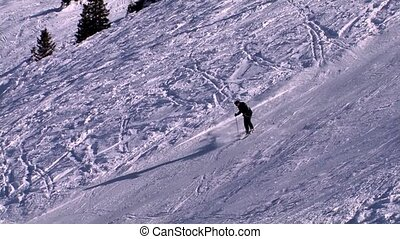 man skiing on beatiful day,