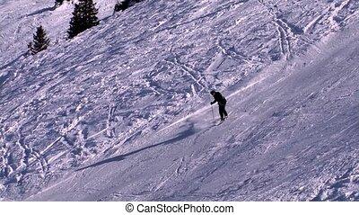 man skiing on beatiful day,