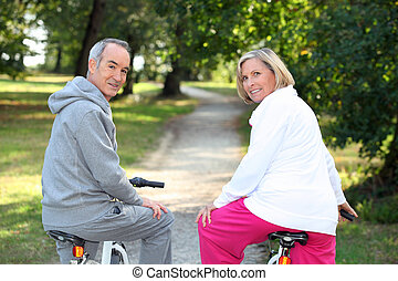 A couple of cyclists