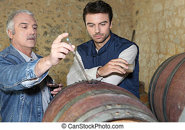 an oenologist and a wine producer