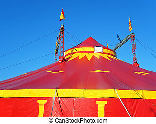 Circus Tent - Big red circus tent in Spain...