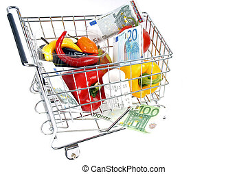 Shopping - shopping carts with vegetables