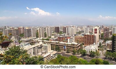 Panorama of Santiago de Chile - View over Santiago de Chile....