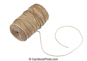 twine over a white background