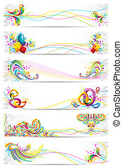 Colorful Banner - illustration of colorful banner with...
