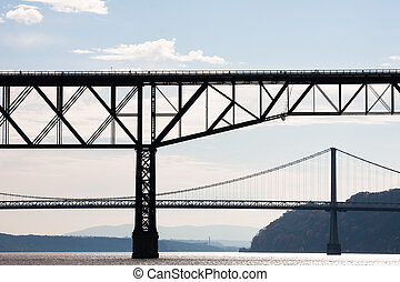Two Bridges - The Poughkeepsie Railroad Bridge and the Mid...