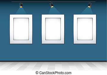 Empty Photo Frame on Wall - illustration of empty photo...