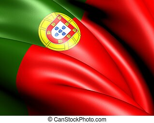 Flag of Portugal Close up