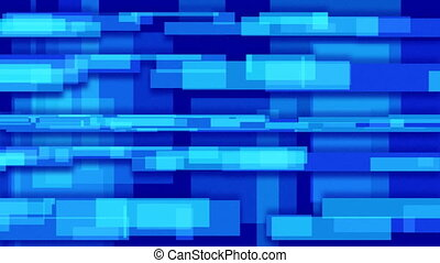 blue abstract loop rectangles - computer generated blue...