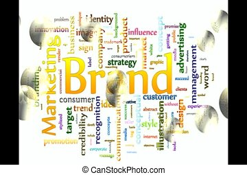 word cloud video - Brand Marketing Related Text Design...