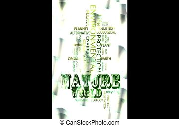 word cloud video - Nature environmental Related Text Design...