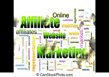word cloud video - Affiliate Marketing Related Text Design...