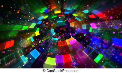 multicolored circular segments - computer generated abstract...