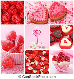 Sweets for valentines day collage