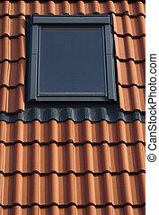 Okno mansardowe, taflowy, dach