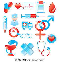 Medical Icon Set - vector medical icons and design elements