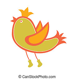 Bird - Vector Bird on White Background