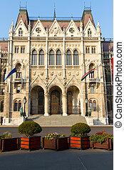 edificio, Parlamento, Húngaro