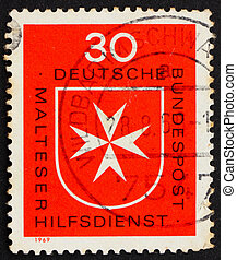 Postage stamp Germany 1969 Maltese Cross - GERMANY - CIRCA...