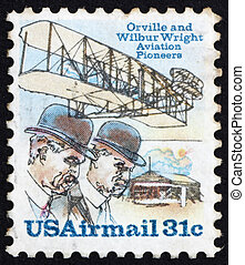 Postage stamp USA 1978 Orville and Wilbur Wright - UNITED...