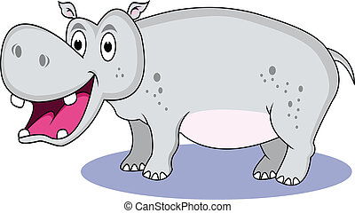 funny hippo cartoon