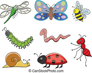 funny cartoon insect - illustration of funny cartoon insect