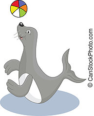 funny seal cartoon