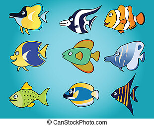 funny fish cartoon - illustration of funny fish cartoon