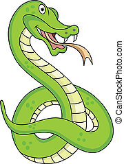 funny snake cartoon - illustration of funny snake cartoon