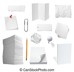paper note office notebook document business - collection of...