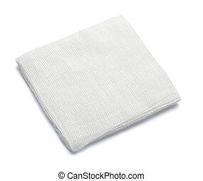 bandage cotton medical aid wound - close up of bandage on...