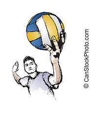 The volleyball player - Illustration of the volleyball...