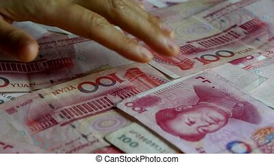 Counting money RMB
