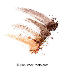 make up powder facial cosmetics - close up of a make up...