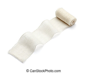 bandage cotton medical aid wound - close up of bandage on...