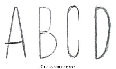 Animated sketch-style english abc - Animated sketch-style...